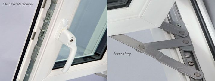 upvc casement windows locking and opening mechanisms from Ecologic Windows and Doors Worcester